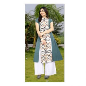 Dark Green Colored Kurti - FG1041