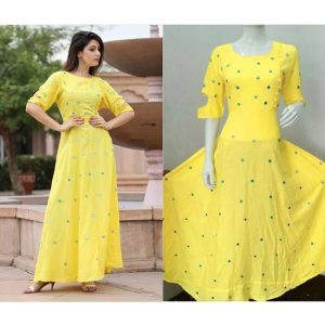 Beautiful Dress For Women - FB4001 |Yellow