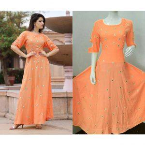 Beautiful Dress For Women - FB4002 |Orange