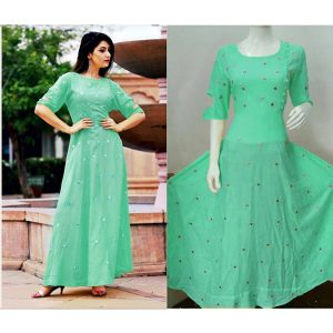 Beautiful Dress For Women - FB4003 |Green