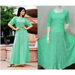 Beautiful Dress For Women - FB4003 |Green