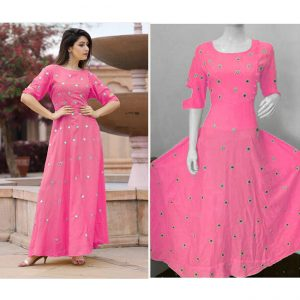 Beautiful Dress For Women - FB4004 |Pink