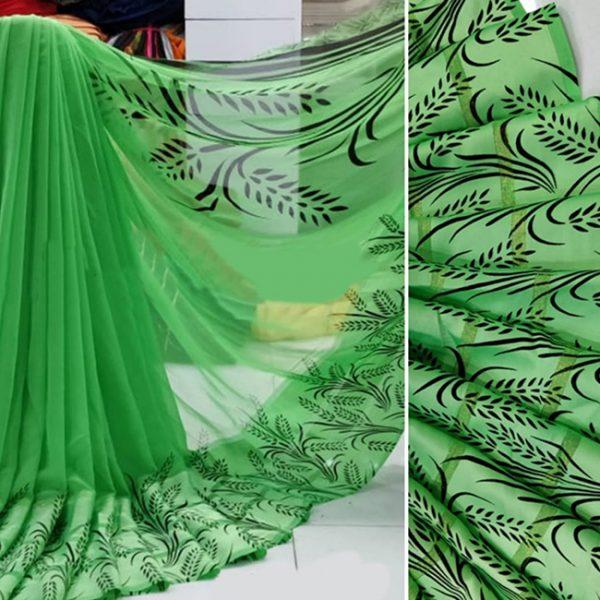 Beautiful Sari For Women - FB4017  Parrot Green
