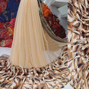 Beige Colored Beautiful Sari - FB4021