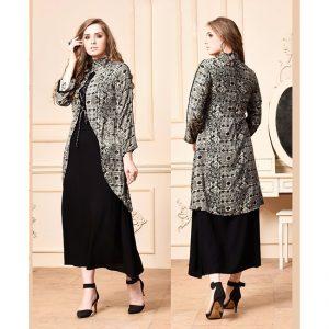 Black Gray Beautiful Gown - FB4060