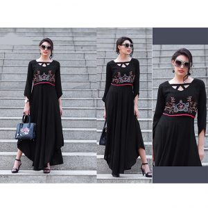 Black Beautiful Long Dress - FB4065