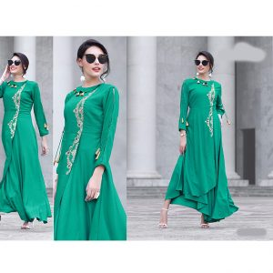 Green Beautiful Long Dress - FB4067