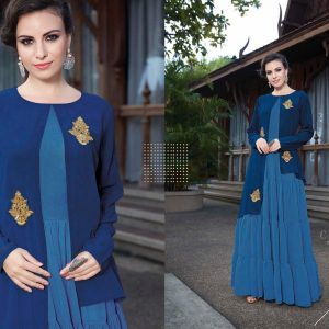 Blue Ready Made Long Kurti - FB4071