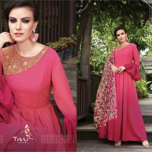 Pink Ready Made Long Kurti - FB4072