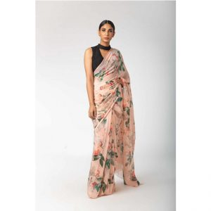 CC-06 Pink Soft Chiffon Saree – MPP1101