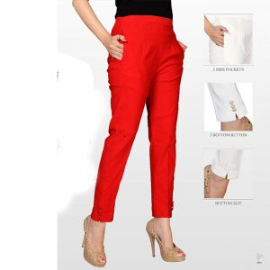 Red Stretchable Pencil Pants – MPP1119