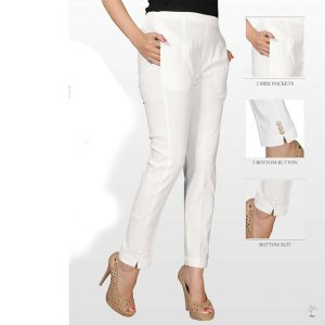 White Stretchable Pencil Pants – MPP1119