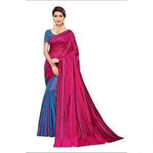 MPP1166 Pink Cotton Silk Saree