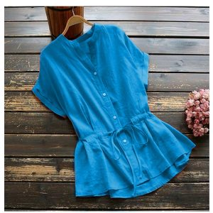 MPP1176 Blue Flex Stylish Top
