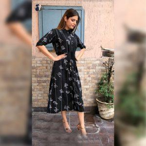 Mix Rayon Short Dress - MPP1415 | Black