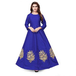Flared A-Line Gown -CZ1019 | Navy