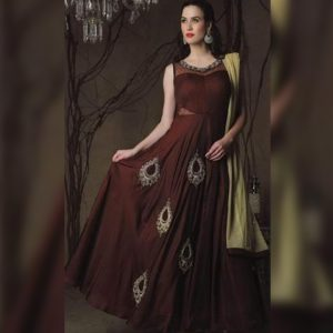 Georgette Anarkali Gown - FG2448 | Brown