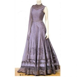 Phantam Silk Anarkali Gown - FG2448 | Purple