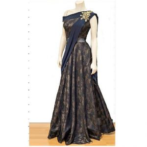 Net Anarkali Gown - FG2448 | Blue