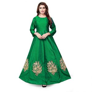 Flared A-Line Gown -CZ1019 | Green