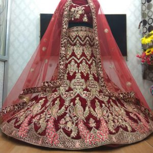 Bridal Embroidery Lehenga Choli - FB4181 |Maroon