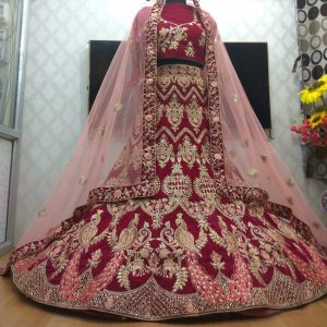 Bridal Embroidery Lehenga Choli - FB4181 |Purple