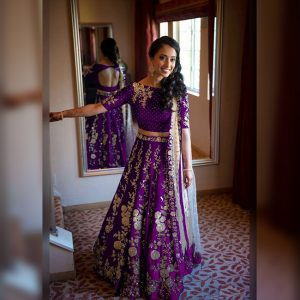 Banglori Silk Lehenga Choli -FG2450 | Purple