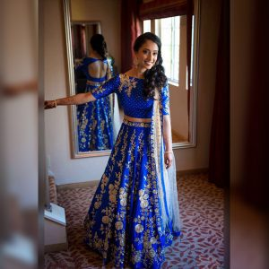 Banglori Silk Lehenga Choli -FG2450 | Royal Blue