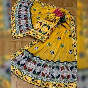 Satin Jam Cotton Dress Material - FB4185 | Yellow