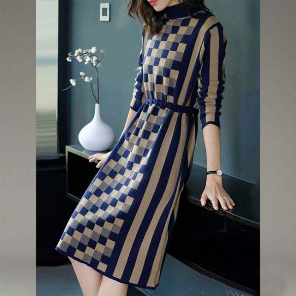 Crepe Short Dress - FG2435 | Blue | CC - 07