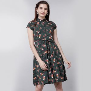 Rayon Short Dress - MPP1361 |CC-06 Green