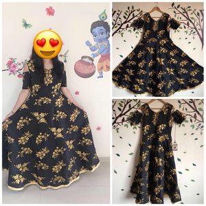 Taffeta Silk Gown - FG2483   Black