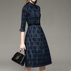 Crepe Short Dress - FG2435 | Blue | CC - 04