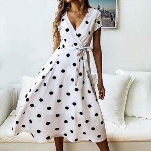 Crepe Short Dress - FG2435 | White | CC - 03