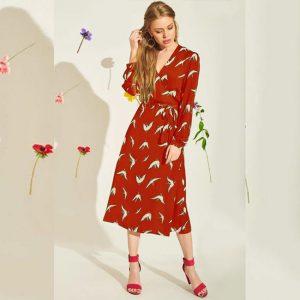 Crepe Short Dress - FG2435 | Red | CC - 02