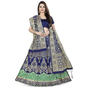 Jaquard Lehenga Choli - CZ1020 |Light Green