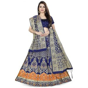 Jaquard Lehenga Choli - CZ1020 |Orange