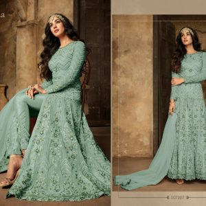 Net&Rangoli Sartin Dress – FB4210 | Green