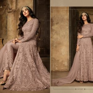 Net&Rangoli Sartin Dress – FB4210 | Tea Pink