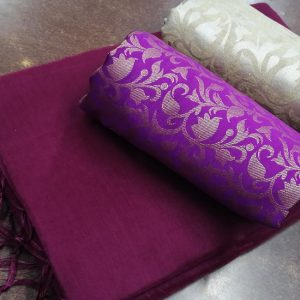 Kalkata Cotton Saree – MPP1450 | Purple | CC-16