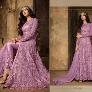Net&Rangoli Sartin Dress – FB4210 | Purple