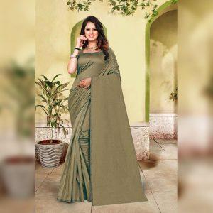 Cotton Silk Saree- FG2513 | Green | CC-06