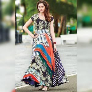 Rayon Aasami Silk Gown – MPP1435   Black   CC-07