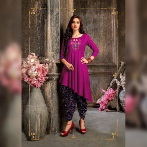 Colored Rayon Kurti – FB4219 | Purple