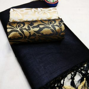 Kalkata Cotton Saree – MPP1450 | Black | CC-13