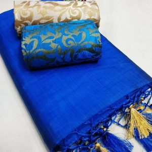 Kalkata Cotton Saree – MPP1450 | Blue | CC-12