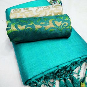 Kalkata Cotton Saree – MPP1450 | Blue | CC-07