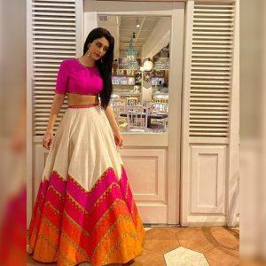 Taffeta Silk Lehanga Choli – FB4221 | Pink