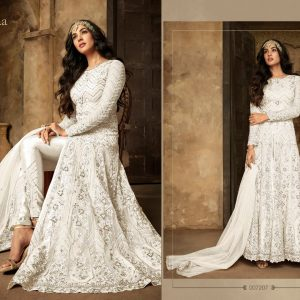 Net&Rangoli Sartin Dress – FB4210 | White