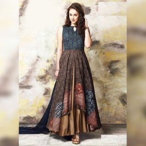 Rayon Aasami Silk Gown – MPP1435 | Brown | CC-13